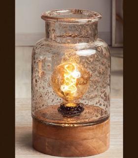 Sobremesa UX vidrio-madera