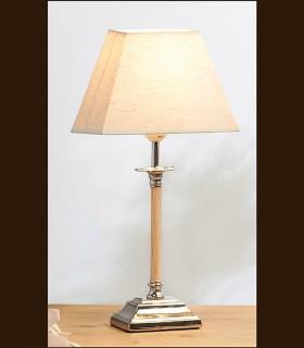Lámpara sobremesa ETH cromo con pantalla beige