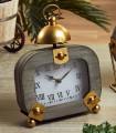 Reloj de sobremesa madera gris/oro