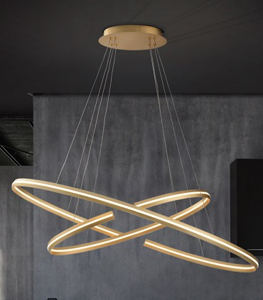Lámpara grande ELIPSE oro - Schuller 652043