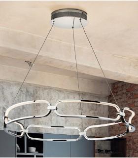 Lampara led COLETTE 80 cm. cromo - Schuller