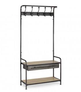 Mueble perchero con cajón