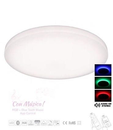 Plafón led MUSIC 50cm + Bluetooh RGB + App Control