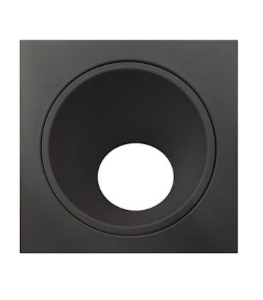 Aro BRANDON GU10 Negro Mate Cuadrado asimétrico 6903 Mantra