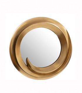 Espejo resina dorado 70 cm.
