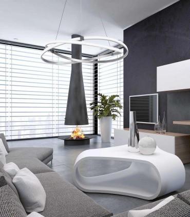 Lámpara de techo INFINITY Led Plata 60W 3000K de Mantra, imagen de ambiente.