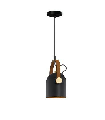 Lámpara 1L ADAME negro oro de Schuller 346011