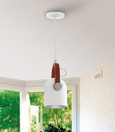 Lámpara 1 luz ADAME blanco plata de Schuller 346028
