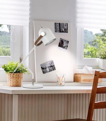 Sobremesa 1 luz ADAME blanco plata - Schuller  346382