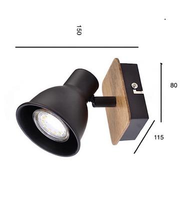 Medidas: Foco MIKO  haya-negro GU10 10267 Jueric