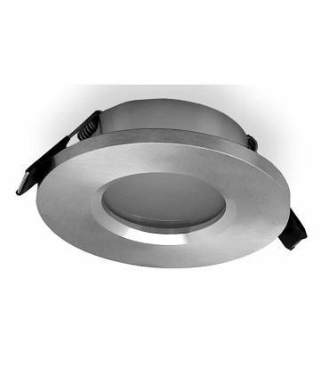 Aro ATLANTIS GU10 IP54 Aluminio Plata Redondo Empotrable 6406 Mantra