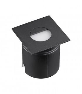 Foco Aspen 3W Negro Cuadrado Señalizador IP65 7031 Mantra