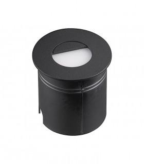 Foco Aspen 3W Negro Redondo Señalizador IP65 7028 Mantra
