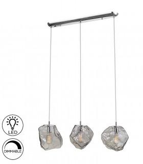 Lampara 3 luces PETRA cromo E27 de Schuller 213455