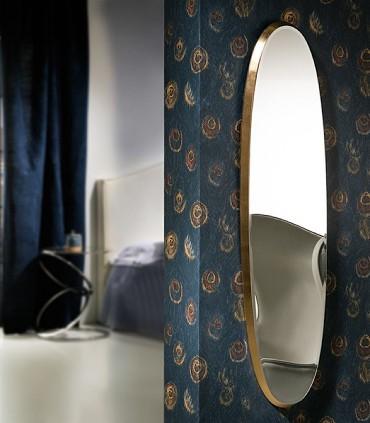Espejo ARIES oval 136x36 oro de Schuller 119481