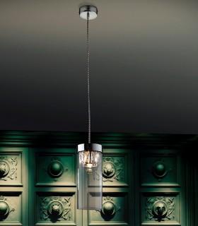 Lampara 1 luz AVA cromo 11cm de Schuller