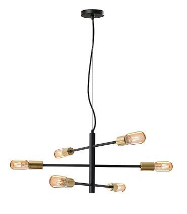 Lampara 6 luces SOHO negro/oro - Schuller 641697