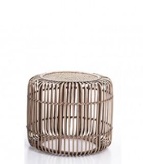 Mesa circular de bambú 48x48x40cm