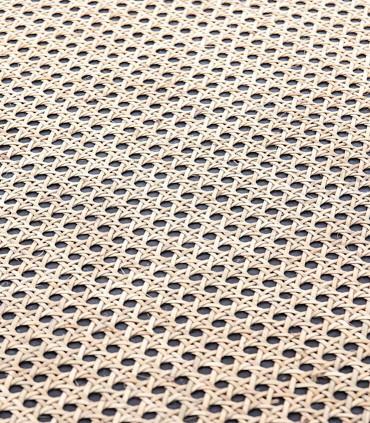 Imagen de la parte superior de la mesa bambú.
