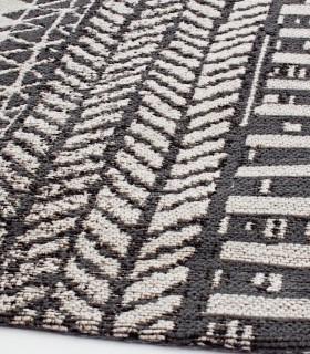 Alfombra Algeri  blanco-negro 160x230