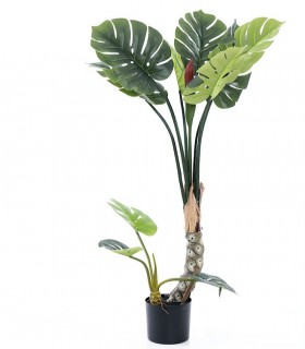 Árbol Monstera artificial decoración 120cm