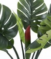 Detalle hojas Árbol Monstera artificial decoración 120cm