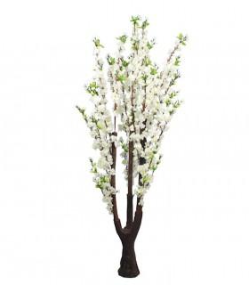 Planta artificial flores blancas decoración