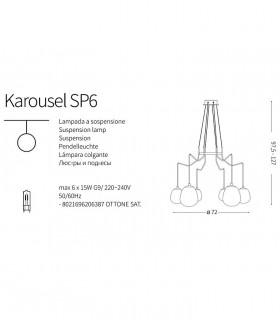 Lámpara Karousel SP6 206387 Ideal Lux