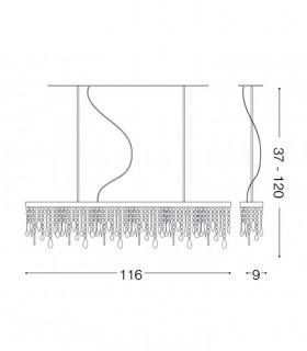 Dimensiones Lámpara Giada Color SP7 099170