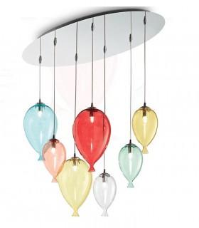 Lámpara Clown SP7 Multicolor 100937 Ideal Lux
