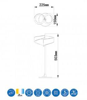Lámpara de mesa TSUNAMI LED blanco 6656 MANTRA