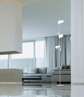Lámpara de pie TSUNAMI LED 36W BLANCO 6657 MANTRA