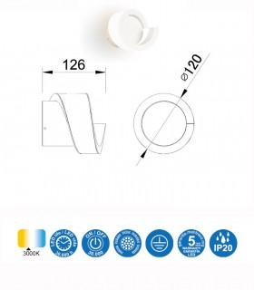 Aplique TSUNAMI LED blanco 6654 MANTRA