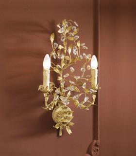Aplique VERDI 2 luces marfil y oro -Schuller