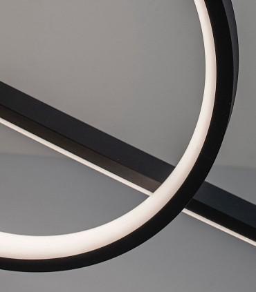 Detalle Lámpara colgante KITESURF Negro LED 50W  7140 MANTRA