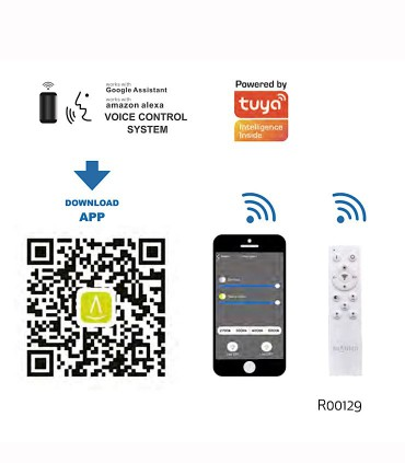 Plafón led EDGE SMART Inteligente 56W 5950 Alexa, App Mantra