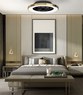 Ventilador de techo Tibet Oro satinado 7124 70W DC Mantra, imagen de ambiente