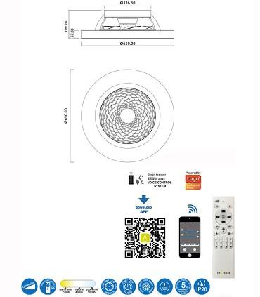 Características Ventilador de techo Tibet LED 70W DC Mantra