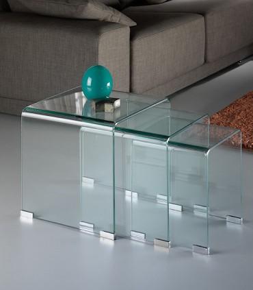 Mesas nido GLASS transparente de Schuller