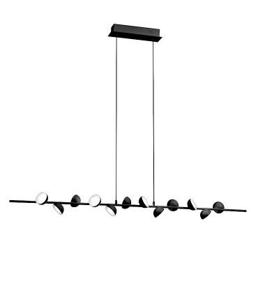 Lámpara lineal ADN negro 36w LED 6418 Mantra