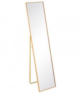Espejo grande ORO aluminio-cristal 50x2,50x160 cm.