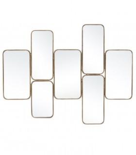 Espejo ORO metal cristal 102x2,50x80 cm.