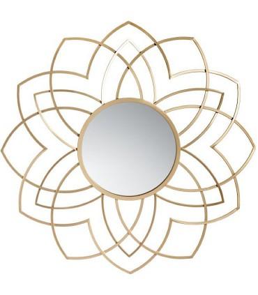Espejo ORO metal cristal.