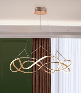 Lámpara led MOLLY 80 cm. dorada - Schuller.