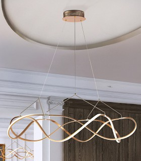 Lámpara led MOLLY 110 cm. dorada - Schuller