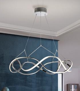 Lámpara led MOLLY 80 cm. cromo - Schuller