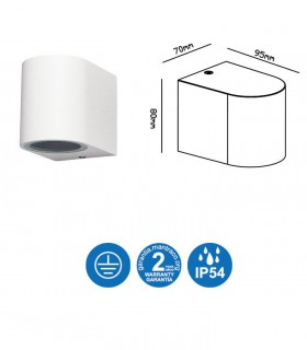 Características Aplique exterior Kandanchú 6513 Mantra Blanco 1 luz
