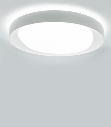 Plafón Box Blanco 36W Led c/mando 7155 Mantra