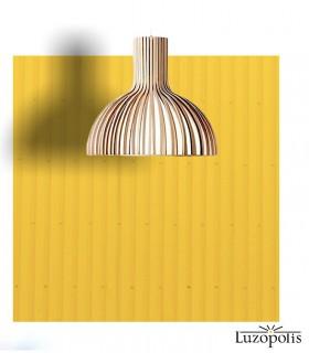 Lámpara colgante Savoy madera bambú 46cm 187092 - Luzópolis.