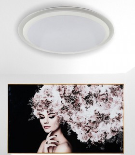 Plafón Led EDGE SMART Inteligente 90W 5949 Alexa, App Mantra